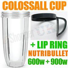 NUTRIBULLET 600W / 900W colossale 32 Onces tall oversized cup + lèvre Anneau Rim + poignée