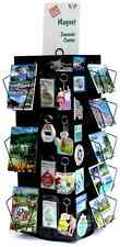 Four Sided, Revolving Magnet Wire Countertop Displays Black Souvenir Display