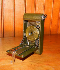 VINTAGE KODAK FOLDING BOY SCOUT CAMERA 127 IN NICE COND 1914-17 & LEATHER CASE