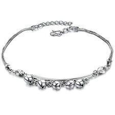 Genuine 18K White Gold GP Lovely Bells  Anklet Lady Party Style