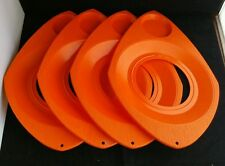 Set of Four Vintage Better Maid Paper Plate and Cup Holders Orange
