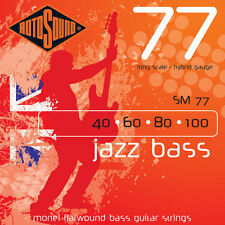 Rotosound SM77 Hybrid Gauge Long Scale Flatwound Electric Bass Strings