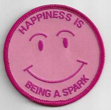 GIRL GUIDES CANADA PATCH - HAPPINESS IS BEING A SPARK