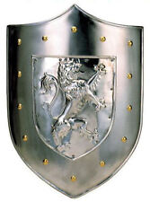 Framed Print - Medieval Silver Shield with Lion Crest (Picture Art King Arthur's