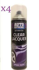 4 x250ml Clear Lacquer Gloss Spray Paint Aerosol Can Auto Extreme Van Car Bike
