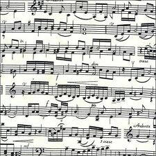 Sheet Music Cotton Fabric Timeless Treasures By The Half Metre
