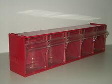 """Cassettiera componibile """" Mobil Plastic"""" rossa"""