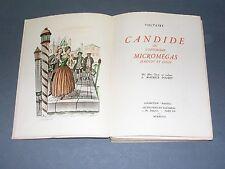 Voltaire Candide Ed.Panthéon Coll.Pastels numéroté gravures couleurs 1948
