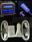 OEM LED Dual Fast Car Charger Cable Wall Charger for Samsung S7 S6 Edge Note 5/4