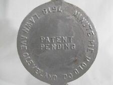 """Minute Pie Mold Co. Cleveland Pie Maker Camping Vintage Camfire Cooking 4.5"""" Dia"""