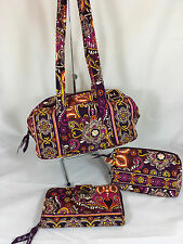 NWOT Vera Purse, Turnlock Wallet and Med. Cosmetics Bag in Safari Sunset