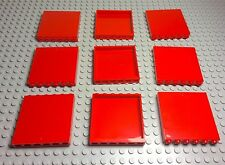 Lego New Bulk X9 Red Panels 1x6x5 Or As Walls Pieces For Any Big Projects