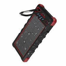 OUTXE 16000mAh Rugged Power Bank with Flashlight IP67 Waterproof Solar