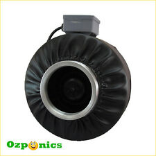"8"" INLINE DUCT FAN HYDROPONICS CENTRIFUGAL EXHAUST VENTILATION BLOWER"
