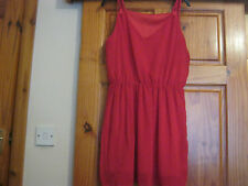 ladies skater red dress size 12/14 new without tags