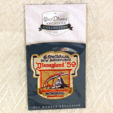 Disney D23 patch-Disneyland '59-MONORAIL Tomorrowland-Archives-NEW-Free shipping