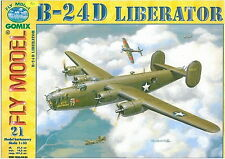 B-24 D Liberator huge paper card model 102cm wingspan 1:33 scale