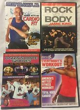 4 dance workout exercise fitness DVD lot, Billy Blanks Jr Jamie King danceX