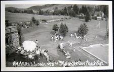 CANADA~1940's SAINT SAUVEUR DES MONTS QUE ~ MARK'S LODGE ~ Swimming Pool ~ RPPC