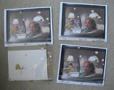 RARE Lot of 4 Original Cell Drawings of Miss Piggy Bubble Bath LOOK