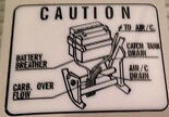 HONDA CB750F CB900F BATTERY BREATHER CAUTION WARNING DECALS