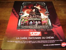 JOHNNY DEPP - Publicité de magazine FILM CHARLIE & LA CHOCOLATERIE !!!!!!!!!!!