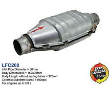 Universal Keramik Katalysator KAT Oval 50mm 400 Zeller / 400cpsi EURO 2 LFC200