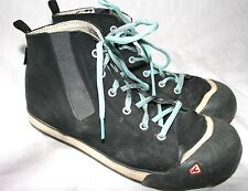 Keen hi-top leather sneakers ankle boots mens boys 6M black