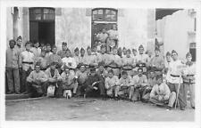 CPA CARTE PHOTO MILITAIRE GROUPE