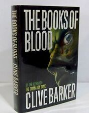 1st/1st - THE BOOKS OF BLOOD by CLIVE BARKER HCDJ - SIGNED COPY