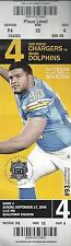2009 NFL MIAMI DOLPHINS @ SAN DIEGO CHARGERS FULL UNUSED FOOTBALL TICKET