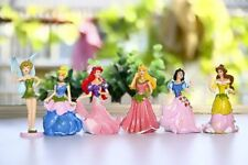 6 pcs Set Disney Princess Snow White Cinderella  9cm Action Figures Cake Topper