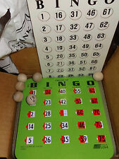 99 Finger Tip Green Cardboard Window Bingo cards Caller Card 75 Wooden Balls USA