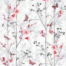 Muriva Papier Peint EDEN papillons rouge (102551)
