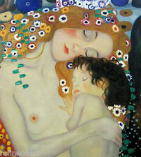 "Art Nouveau Gustav Klimt Mother and Child Canvas GICLEE Print 20""x24"""