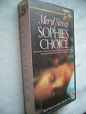 SOPHIE'S CHOICE MERYL STREEP VHS small box