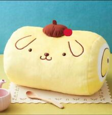 Japan Furyu Pompompurin Pudding Purin Swiss Roll Plush Cushion Pillow Cherry