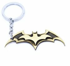 The Movie Batman wings 3D The dark Knight Logo Gold 7cm Metal Keychain