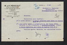 """LIMOGES (87) QUINCAILLERIE & METAUX """"M. & H. PENICAUT"""" en 1950"""