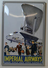 Imperial Airways and Associated Companies Europe etc. 3d tôle bouclier (bs389)