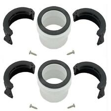 "Spa Hot Tub 2"" Flow Through Heater Union Split Nut & PVC Tail Piece Kit Pair"