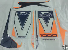 "V1000  (Orange)   Latest 2016  Model  "" Best Graphics ""   - Cricket Bat Sticker"