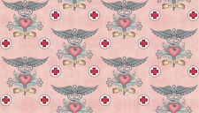 FABRIC Quilting Treasures WHAT THE DOCTOR ORDERED ~ Dan Morris (24927 P) 1/2 yd
