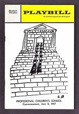 """Vera Wang """"PROFESSIONAL CHILDREN'S SCHOOL"""" Gwen Verdon '67 Commencement Playbill"""