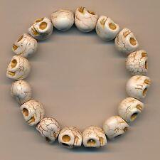 Klasse Armband Totenkopf Skull Buddha Marmor Bracelet 134c