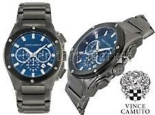 Vince Camuto VC/1065NVDG Men's Gunmetal Stainless Steel Blue Chronograph Watch