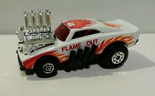 VINTAGE 1970's MATCHBOX #48 RED RIDER FLAME OUT DODGE CHARGER