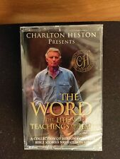 Charlton Heston Presents The Word The Life and Teachings of Jesus Cassette New