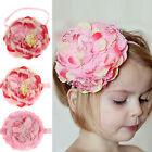 Baby Girls Elastic Flower Hairband Photography Prop Band Headbands Elegant