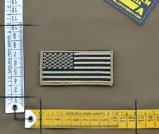 """Ricamata / Embroidered Patch Forward """"USA Flag"""" Sand with VELCRO® brand hook"""